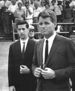 Jerry Wolman with RFK at Franklin Field.